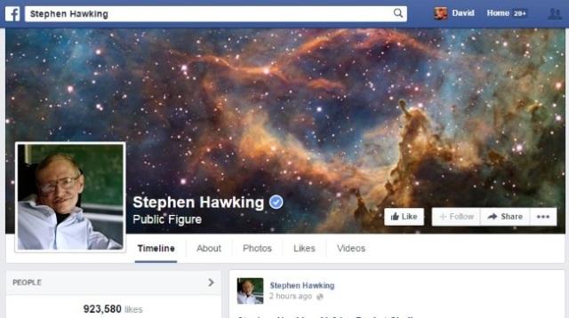 صفحة ستيفن هاوكينغ
