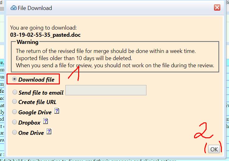 لما نضغط OK تظهر لنا هذه النافذة فنختار Download file ثم OK.