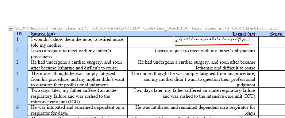 يُسهّل عليك تقسيم النص لفقرات صغيرة عمليةَ الترجمة