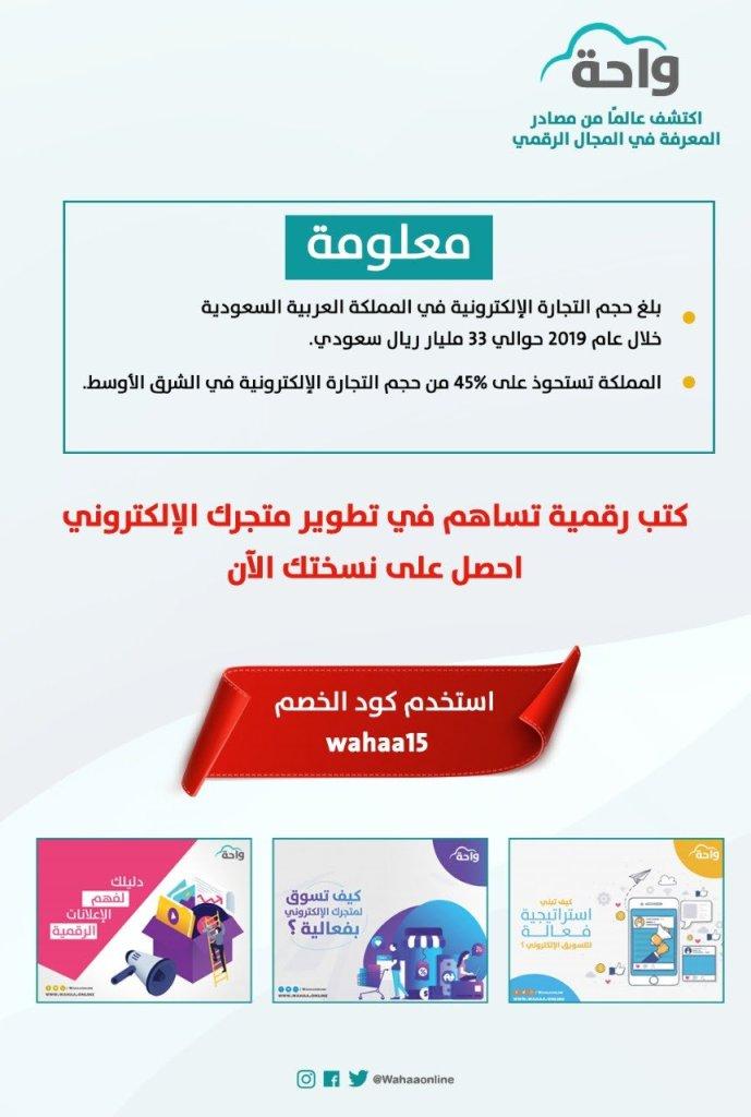 أرقام عن حجم التجارية الإلكترونية في المملكة العربية السعودية - ومقدار ما تستحوذ عليه المملكة من التجارة الإلكترونية في الشرق الأوسط