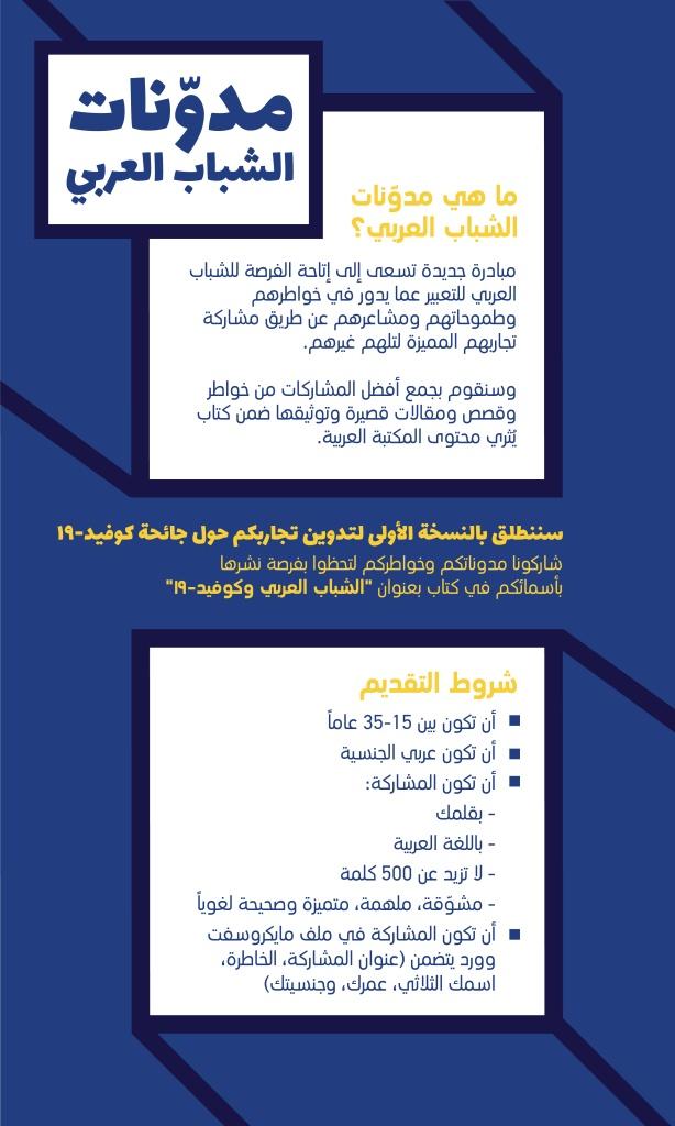 مبادرة تسعى لإتاحة الفرصة للشباب العربي للتعبير عما يدور في خواطرهم وطموحاتهم ومشاعرهم لمختلف المواضيع المجتمعية