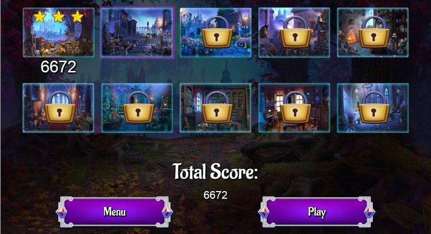 لقطة شاشة من لعبة قلعة القرون الوسطى للأرقام المخفية
