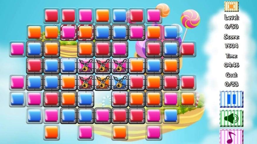 لقطة شاشة من لعبة منزل الحلوى – Candy House