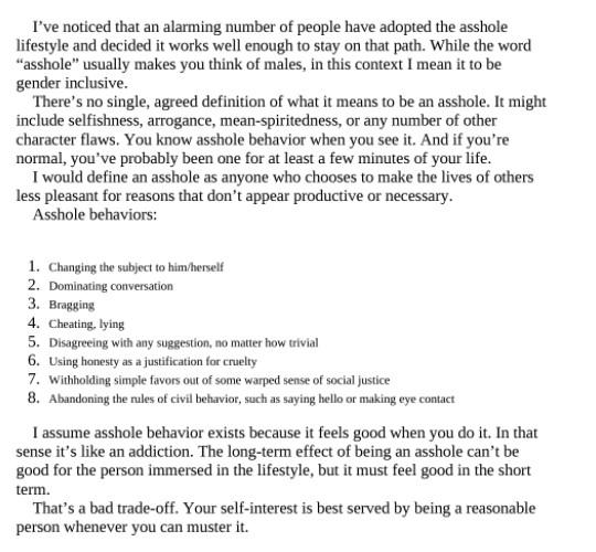 تعريف الوغد وفق سكوت آدمز من كتاب كيف تُخفق في كل شيء تقريبًا ومع ذلك تَغنم كثيرًا